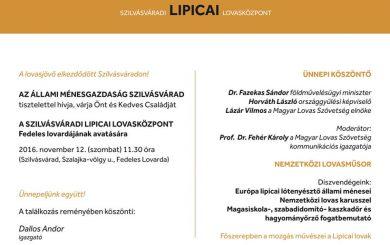 Meghívó - Lipicai lovasközpont