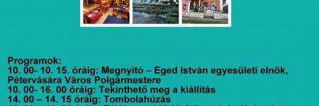 Turizmus, helyi termék kiállítás